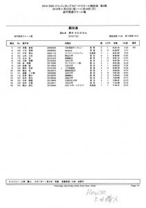 【訂正】男子5000MDivA公式記録(2019.2020ジャパンカップ第2戦)のサムネイル